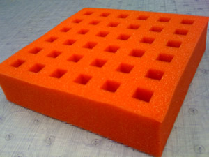 Precision die cut flexible polyurethane foam