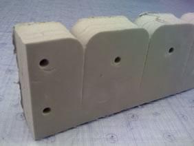 2 lb.cu/ft density crosslinked polyethylene foam rod holder